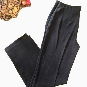 Giorgio Armani Collezioni Navy High Rise Pants 10